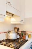 Кухня, плита газа стоковое изображение