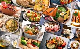 Кухня различных стран Стоковые Фото