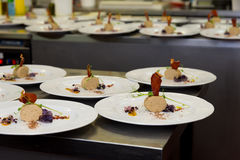 Кухня ресторана изысканной еды Стоковое Изображение