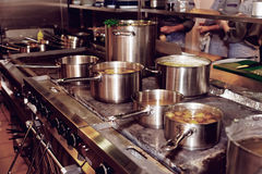 Кухня ресторана Стоковые Изображения