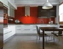 кухня самомоднейшая Стоковые Изображения