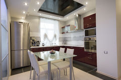 кухня самомоднейшая Стоковое Изображение