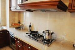 кухня семьи самомоднейшая Стоковое Фото