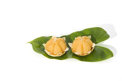 Кухня сладостного желтого десерта королевская тайская Стоковое Фото