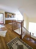 кухня твёрдой древесины пола Стоковое Фото
