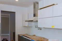 Кухня улучшения дома современной кухни внутренняя Remodel стоковые изображения rf