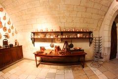 кухня Франции chenonceau замока средневековая Стоковое Изображение RF