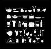 кухня элементов иллюстрация штока