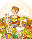 кухня девушки Стоковая Фотография RF