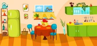 кухня иллюстрация штока