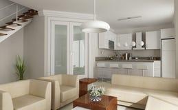 кухня 3d представляет Стоковые Изображения