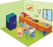 кухня иллюстрация вектора