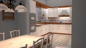 кухня 3d Стоковая Фотография