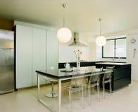 кухня interor конструкции Стоковое фото RF