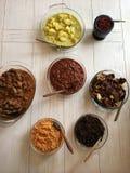 Кухня Sri Lankan - плоский взгляд положения Стоковое Изображение