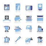 Кухонные приборы и значки оборудования Стоковое Изображение RF