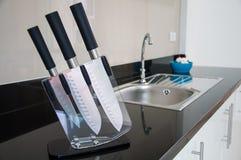Кухонный нож. Стоковое Фото