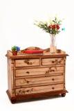 кухонный шкаф деревянный Стоковое Изображение