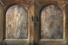 кухонный шкаф деревянный Стоковая Фотография RF