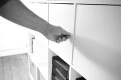 Кухонный шкаф 1 отверстия Стоковое фото RF
