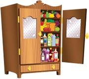 Кухонный шкаф стиля коттеджа Стоковые Фотографии RF