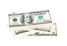 Куча американца 100 долларов кредиток Стоковые Фото