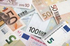 Куча банкнот евро Стоковые Фото