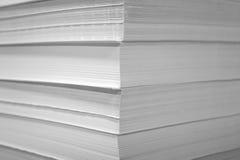Куча белой бумаги Стоковое фото RF