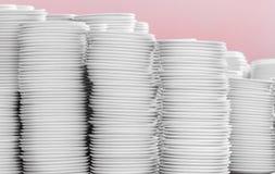 Куча белых плит в складе Стоковая Фотография