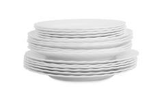 Белые плиты Стоковое Фото