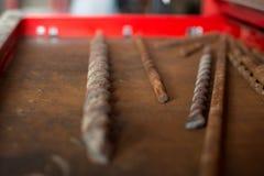 Куча буровых наконечников стоковые фотографии rf