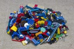 Куча блоков LEGO Стоковая Фотография