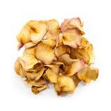 Куча высушенных желтых лепестков розы Стоковое Фото