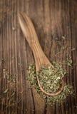Куча высушенных листьев Стевии Стоковая Фотография