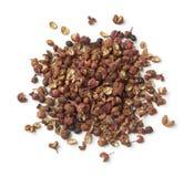Куча высушенных семян перца Сычуань Стоковое фото RF
