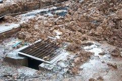 Куча грязи на строительной площадке стоковая фотография rf