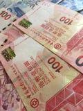 Куча денег долларов Гонконга Стоковое фото RF
