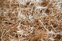 Куча деревянной предпосылки shavings Стоковые Изображения RF