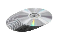 Куча диска DVD. стоковое фото rf
