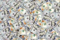 Куча долларовых банкнот Стоковые Изображения