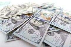 Куча долларов как предпосылка Стоковое Изображение