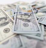 Куча долларов как предпосылка Стоковые Фотографии RF