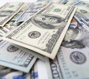 Куча долларов как предпосылка Стоковые Изображения RF