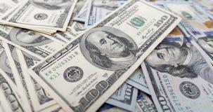 Куча долларов как предпосылка Стоковые Изображения