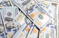 Куча долларов как предпосылка Стоковое Фото