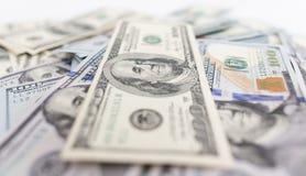 Куча долларов как предпосылка Стоковая Фотография RF