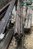 Куча древесины Бангкока конструкции стоковые изображения