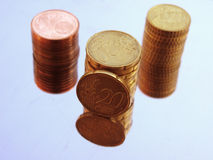 куча евро цента Стоковая Фотография RF