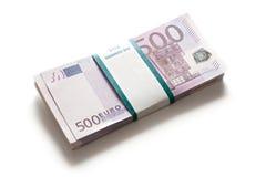 куча евро Стоковая Фотография