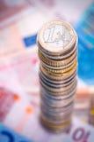 куча евро Стоковые Фото